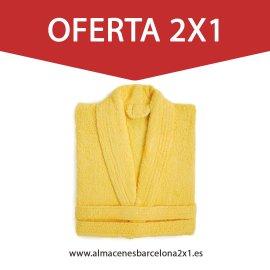 Albornoz amarillo 100%algodon 450gr oferta