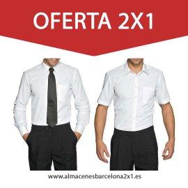 camisa blanca de trabajo oferta