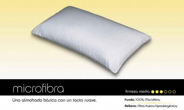 almohada confort microfibra
