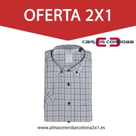 2 camisa de cuadros manga corta oferta