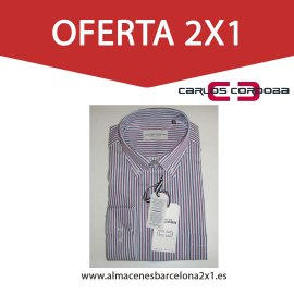 2 camisa de rayas manga larga oferta
