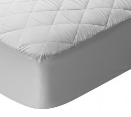 protector colchon acolchado ( ajustable 50% algodon 50% poliester  disponible en todas las medidas con plastico y sin plastico)