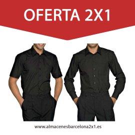 camisa negra hosteleria oferta