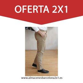 pantalon chino elastico beige oferta