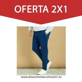 pantalon chino elastico marino oferta