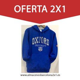 sudadera capucha oxford azulon oferta