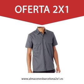 camisa de trabajo gris oferta