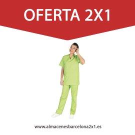 traje sanitario verde pistacho oferta