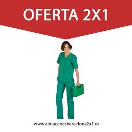 traje sanitario verde quirofano oferta